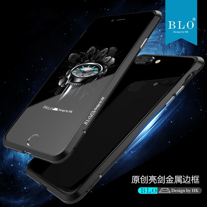 苹果7超薄金属边框7plus个性手机壳i8防摔8p简约新iphone X潮男女