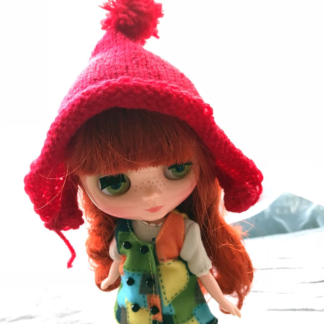 BJD doll special area ball joint doll 6 points SD baby Blythe small cloth baby clothing accessories wool hat
