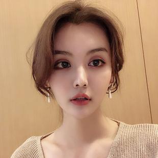 珍珠氣質圓臉流蘇耳釘女高級感耳環女網紅顯瘦2020新款潮韓國耳墜