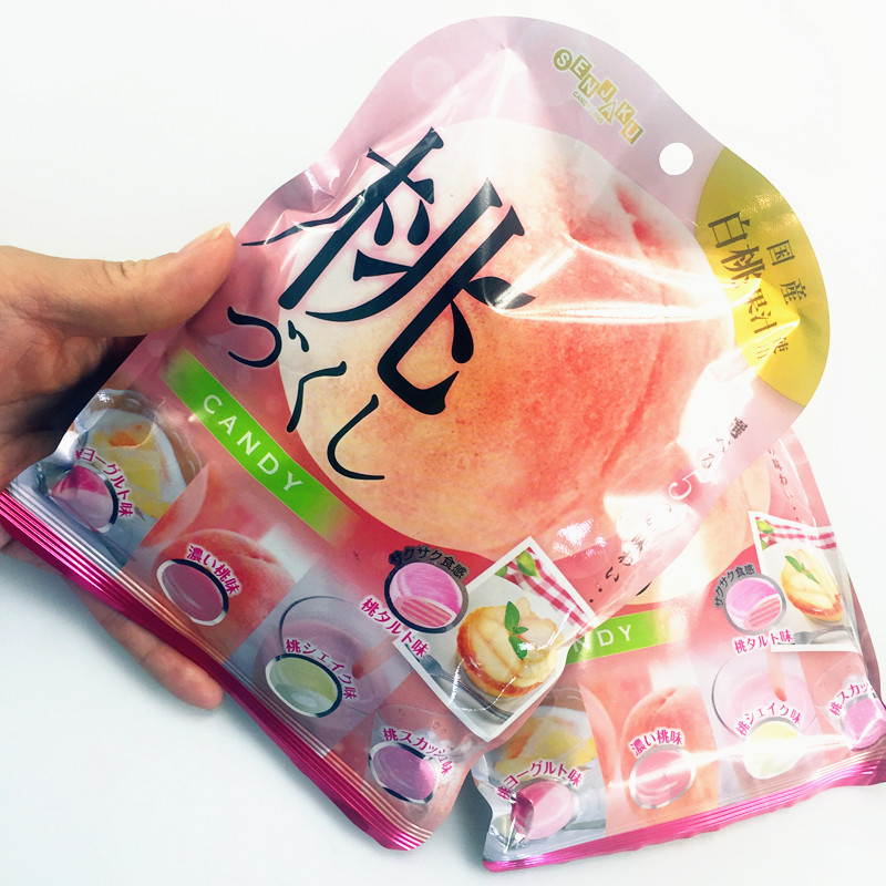 Japanese candy fankewu white peach Hami melon juice sugar sandwich sugar water fructose