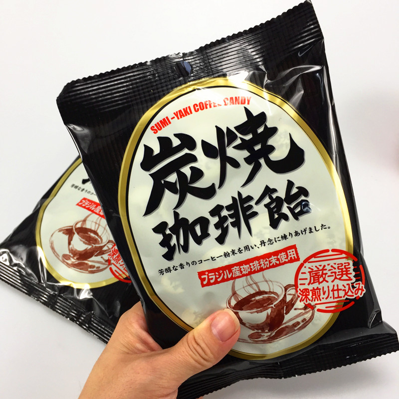 Imported snacks Japanese candy libon charcoal roasted coffee candy imported candy 92g coffee flavor sugar hard candy