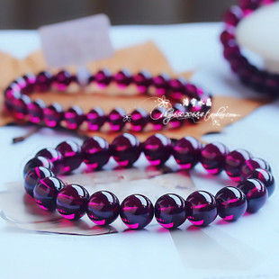 Sri Lanka s top collection of the best natural Purple Rose teeth black garnet bracelet female models