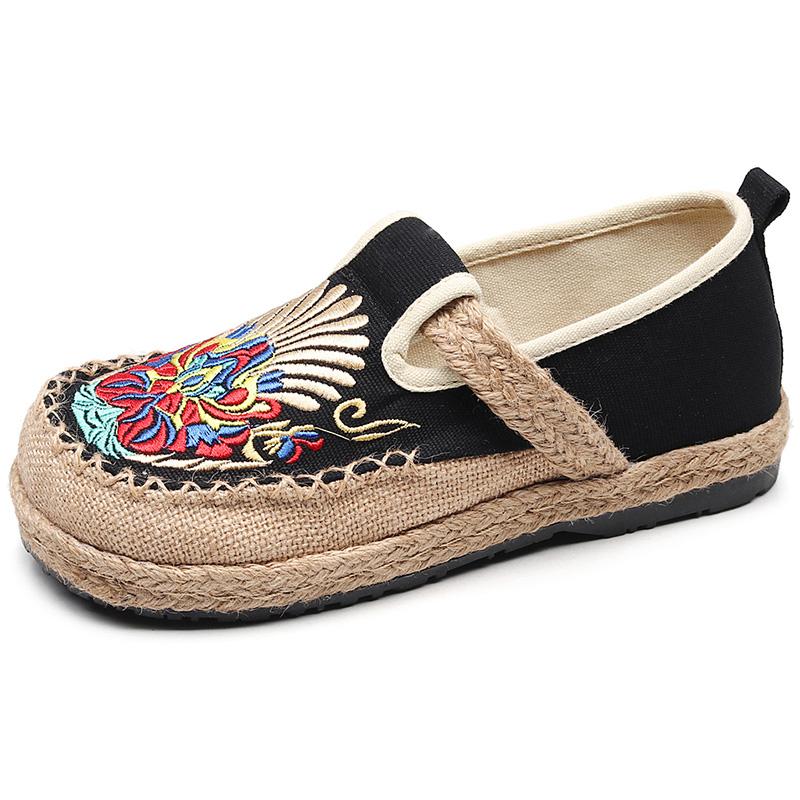 老北京民族风学生帆布凉鞋渔夫鞋