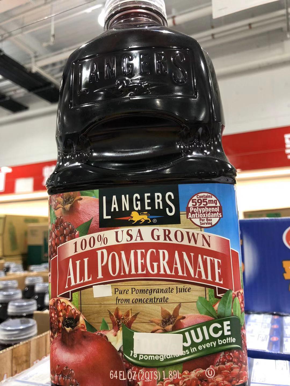 上海Costco开市客好市多美国LANGERS石榴汁1.89L
