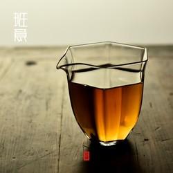 班意 日式耐热玻璃 六角匀杯公杯公道杯出口日本高硼硅玻璃茶海