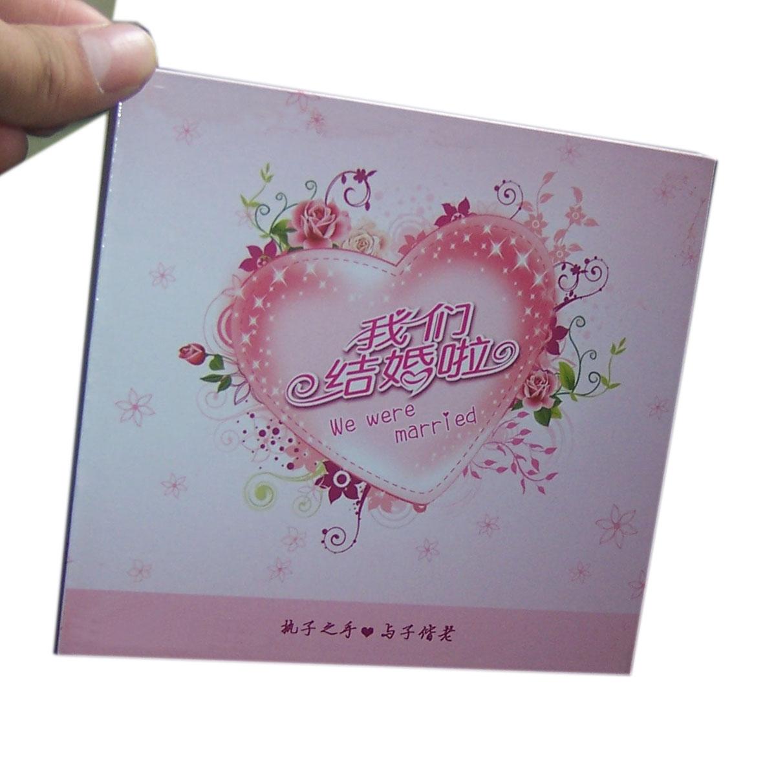 结婚/婚庆碟盒 薄单碟方木盒 单片CD盒 粉色盒 DVD我们结婚啦