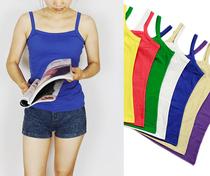 2018夏季新款韩版女士装时尚百搭宽松纯棉短款打底小背心吊带衫