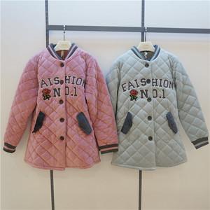 特价安之伴正品84F5422睡衣冬季棒球款贝贝绒厚夹棉女套装家居服