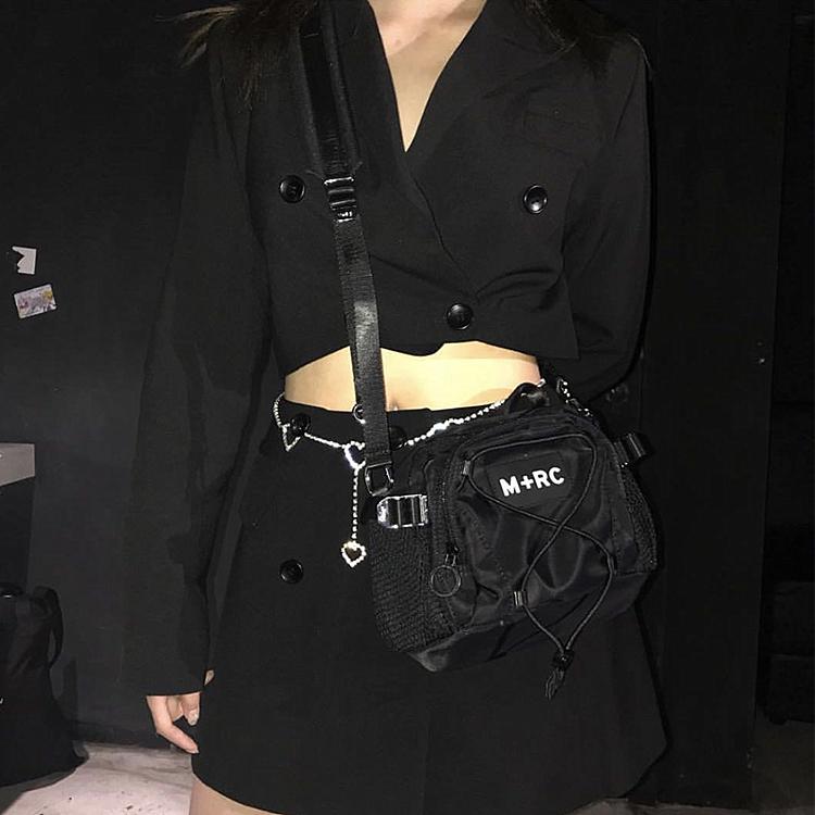 潮物Woo M+RC NOIR Switch Bag Logo 多功能单肩手提斜跨包手术包