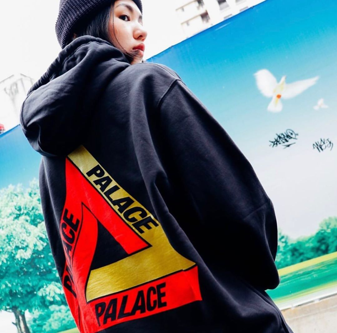 潮物Woo Palace Chi-Ferg Hood 上海限定彭羅斯三角印花帽衫衛衣