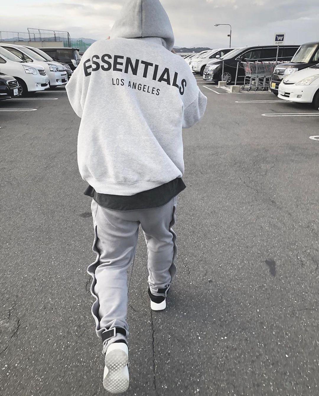 潮物Woo Fear Of God FOG Essentials LA Hood洛杉矶限定卫衣帽衫