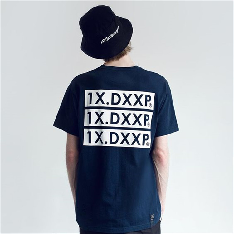 【潮物Woo】10 Deep Triple Stack 2 Logo Tee 经典标语 短袖T恤