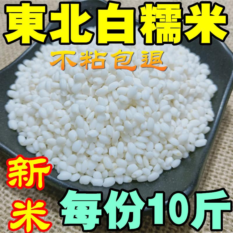 【10斤】2019年新糯东北圆糯米散装 新鲜纯白糯米江米 酒酿包粽子