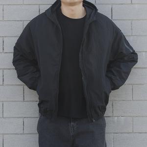 秋冬季连帽外套男潮日系复古轻薄棉衣韩版潮流宽松薄棉服运动
