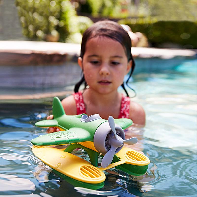 美国Green Toys水上飞机直升机 儿童宝宝洗澡泳池戏水漂浮上玩具