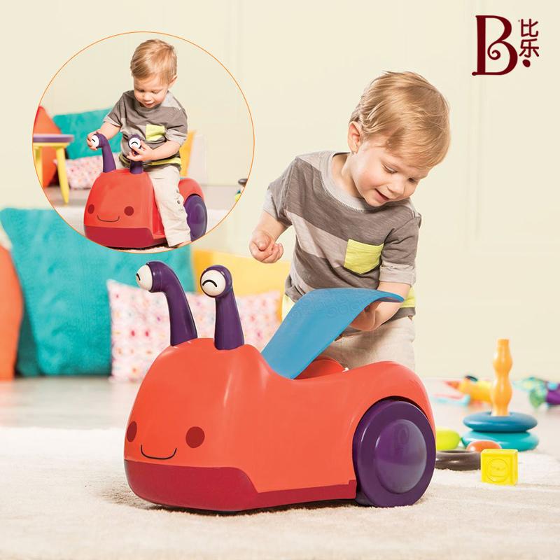假一赔十比乐B.Toys蜗牛乘骑车 四轮溜溜车扭扭车婴幼宝宝平衡滑行车1-3岁
