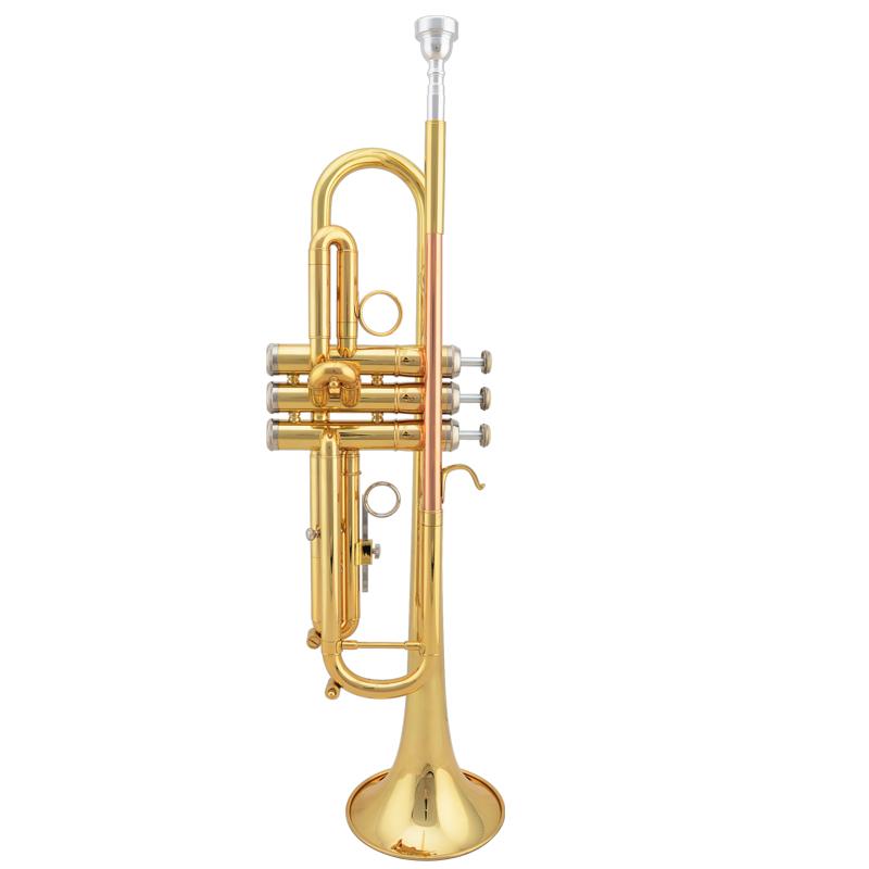 JAZZOR爵士朗降B调专业演奏型小号乐器2000型黄铜小号漆金