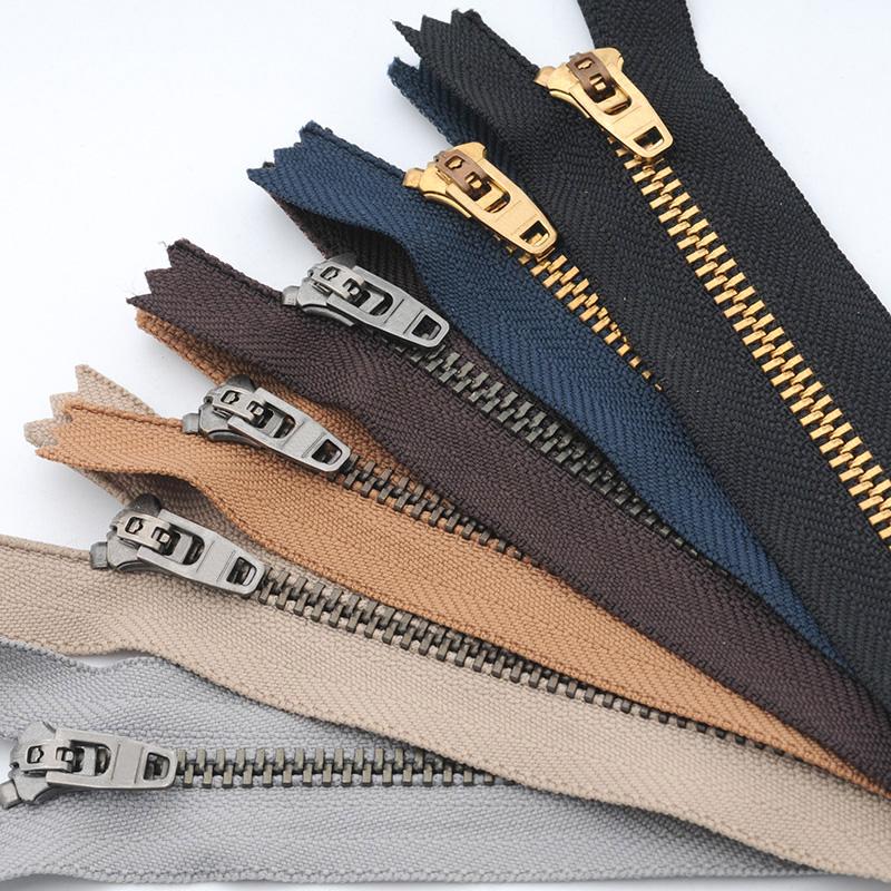 牛仔裤子拉链3号闭口金属铜拉锁门襟防开防滑配件裙子4号拉锁头扣