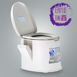 日本爱丽思TP-420V老人室内便携式座便器孕妇移动马桶加高坐便器