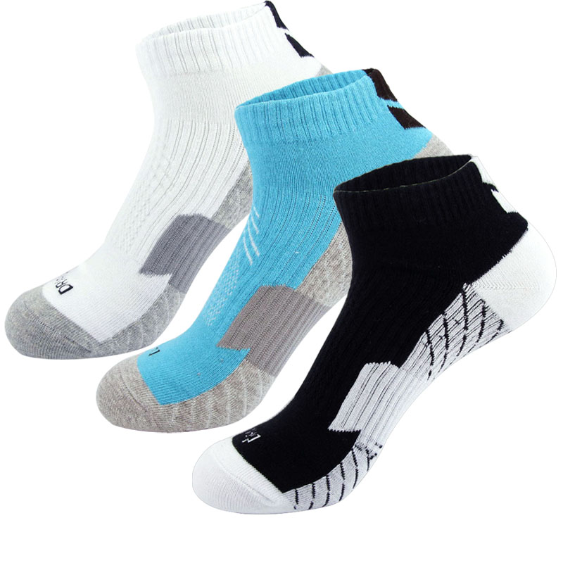 Summer thin pure cotton breathable odor proof elite basketball boat socks short tube low top yellow blue green