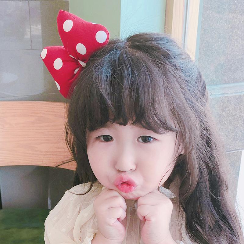 (用1元券)韩国进口儿童发饰可爱迪士尼米奇发圈波点蝴蝶结米妮发夹女童头饰