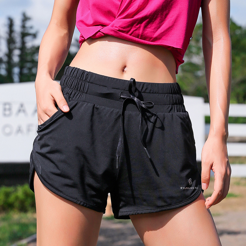 Сильный идти из лори двойной цвет шнурок движение шорты содержится в подкладка быстросохнущие воздухопроницаемый обучение бег фитнес горячей брюки весна