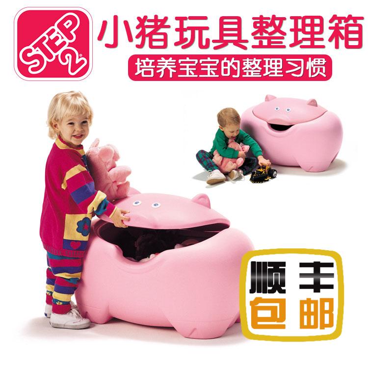 Импорт из южной кореи бесплатная доставка STEP2 Pig Toy Box свинья игрушка разбираться коробка ящик хранение полка