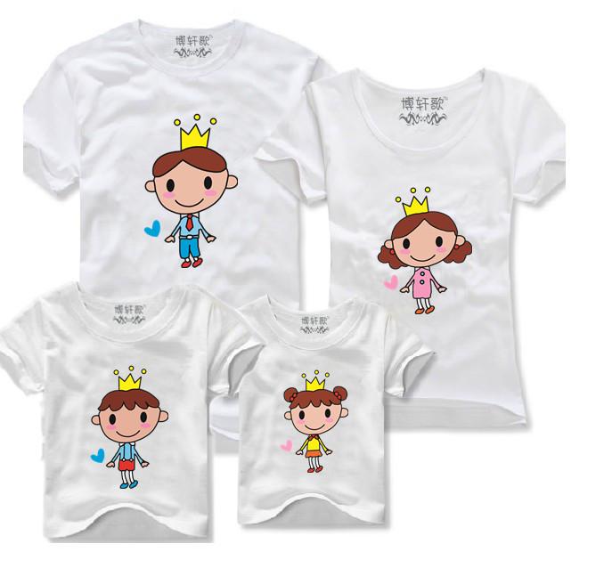 2015 года корейской версии оригинальной родитель ребенок оборудование новой летней моды короткий рукав футболки приспособлены для семей с семьей из трех праздник износа
