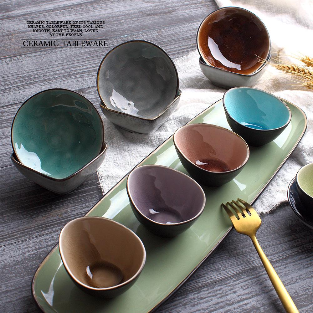 创意调味碟味碟餐厅日式北欧冰裂纹釉陶瓷酱碗醋酱碟调料碟蘸料碟