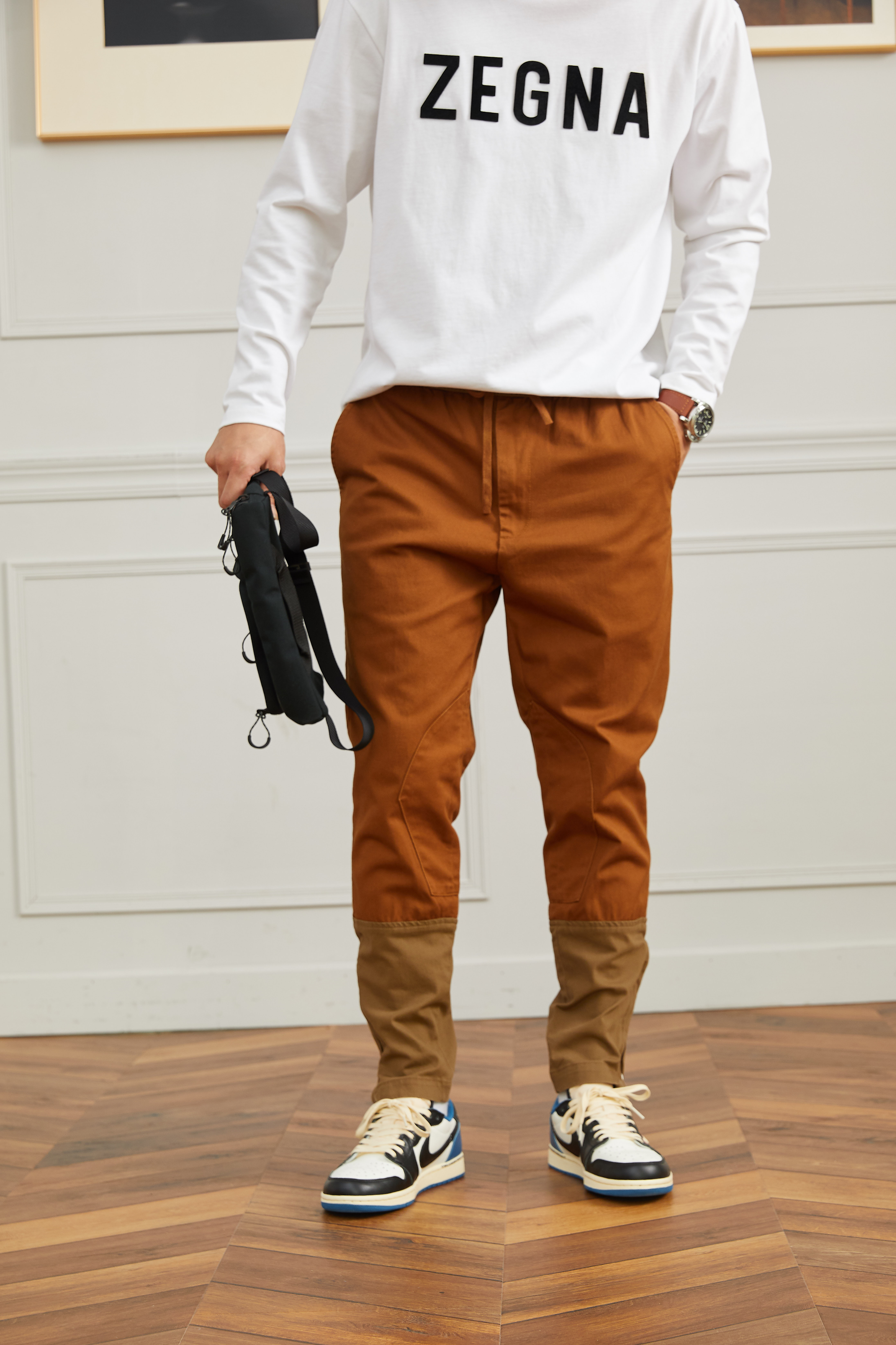 [Forrest Gumps RM] Forrest Gumps / three season high-density twill stitching corset tapered mens casual pants