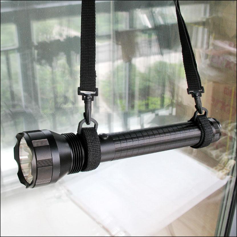 华升黑豹WFL-H2专业安防夜巡LED锂电强光手电筒1000Lm背带车载防