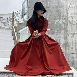 设计感小众外套女2020新款拉链系带流行潮酷学院风学生中长款风衣