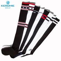 高尔夫球袜过膝保暖透气女长袜休闲长筒袜子高筒棉袜条纹运动袜