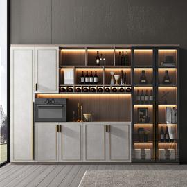 轻奢餐边靠墙酒柜展示柜储物柜餐厅柜酒架柜现代简约置物酒柜定制