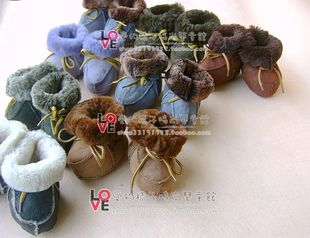 Baby Shoes Children Australian wool boots warm snow boots baby soft bottom toddler shoes wool fur boots
