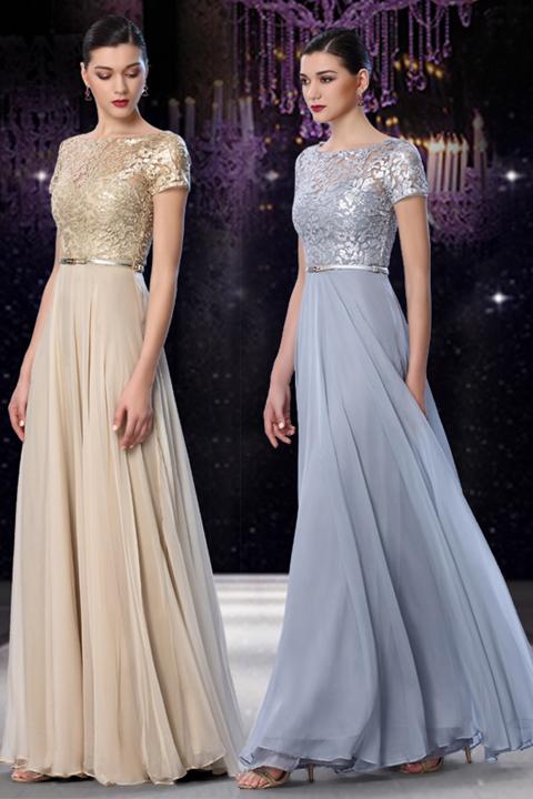 晚礼服2018新款夏季女优雅时尚演出晚装显瘦主持人酒会长款连衣裙