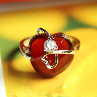 Love red agate Green Agate faceted diamond Plated Platinum 925 Sterling Silver Gemstone Ring for women