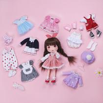 MEEMO米萌新品缝纫布艺DIY手工材料包人形娃娃玩偶美美与她服装