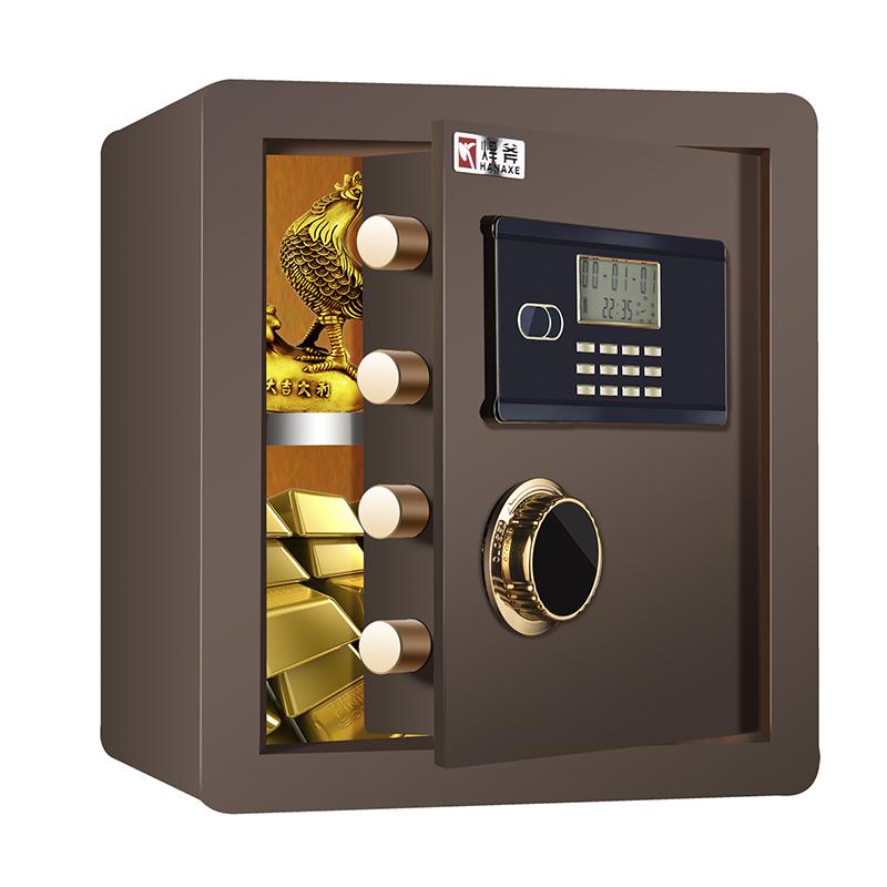 焊斧保险柜家用全钢 双报警电子保险箱特价入墙迷你 床头柜高40cm
