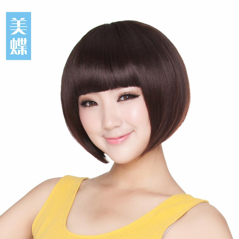 美しい蝶のかつらの新型のファッションBOBOの頭の短い髪の女性のふんわりしている波頭のかつらのカバーは心地良くて空気を通します