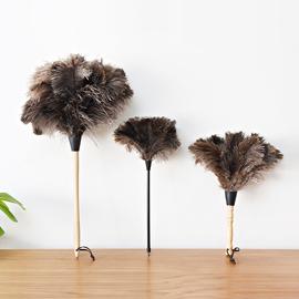 鸵鸟毛羊毛除尘掸子 电器橱柜扫尘用品 清洁家居鸡毛掸子除尘掸头图片