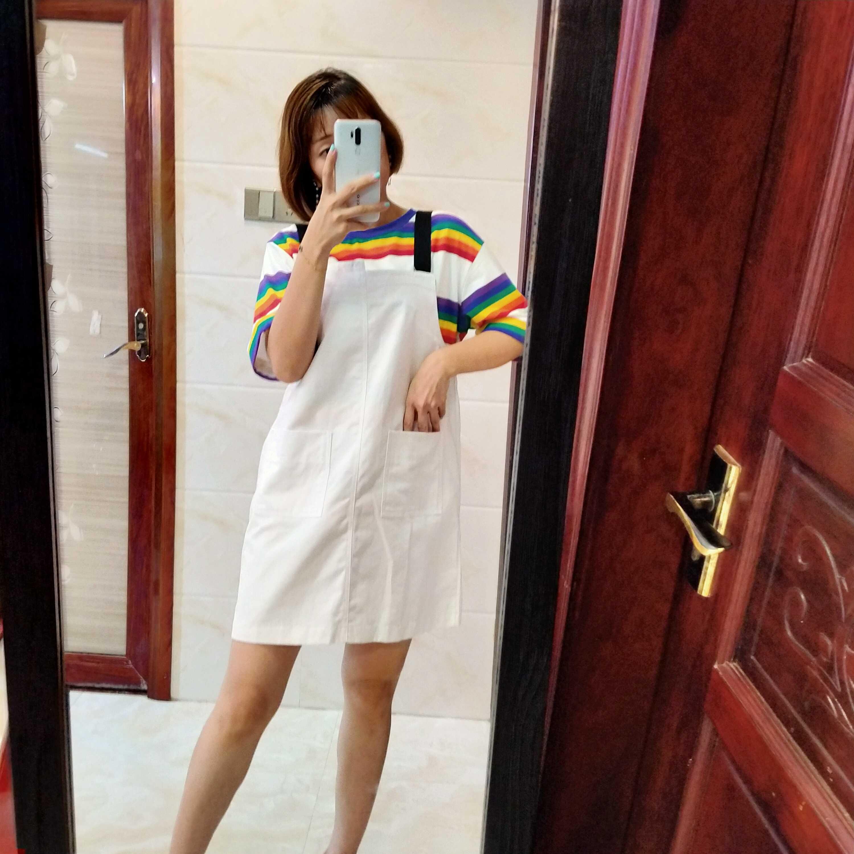 2020 new summer dress Korean womens dress shows thin temperament striped trousers short skirt set two piece dress set for women