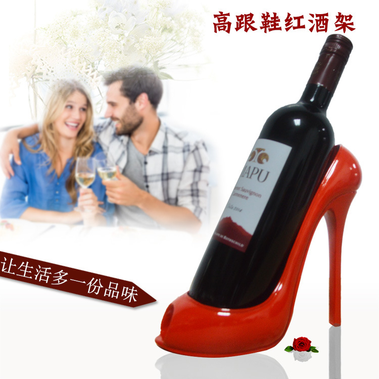 Creative high heels, red wine shelf, living room, dining room, table decorations, wedding gifts for girlfriends and girlfriends
