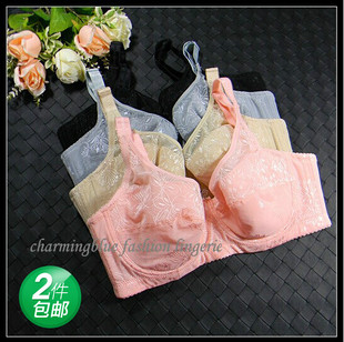 Fat MM big yards cotton underwear thin cup full cup bra gather adjustable four breasted 75E80DE85DE90D