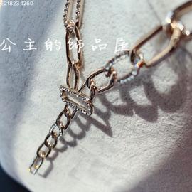 欧比雅比 欧美时尚休闲百搭 镶钻圈圈环 长项链 毛衣链