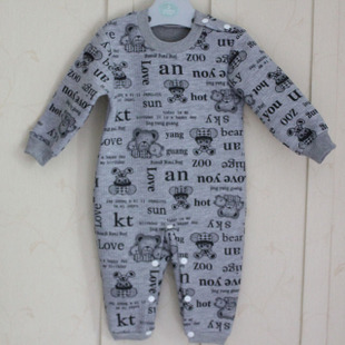 秋冬 婴儿衣服 0-6岁哈衣爬衣 儿童保暖棉连体衣大码