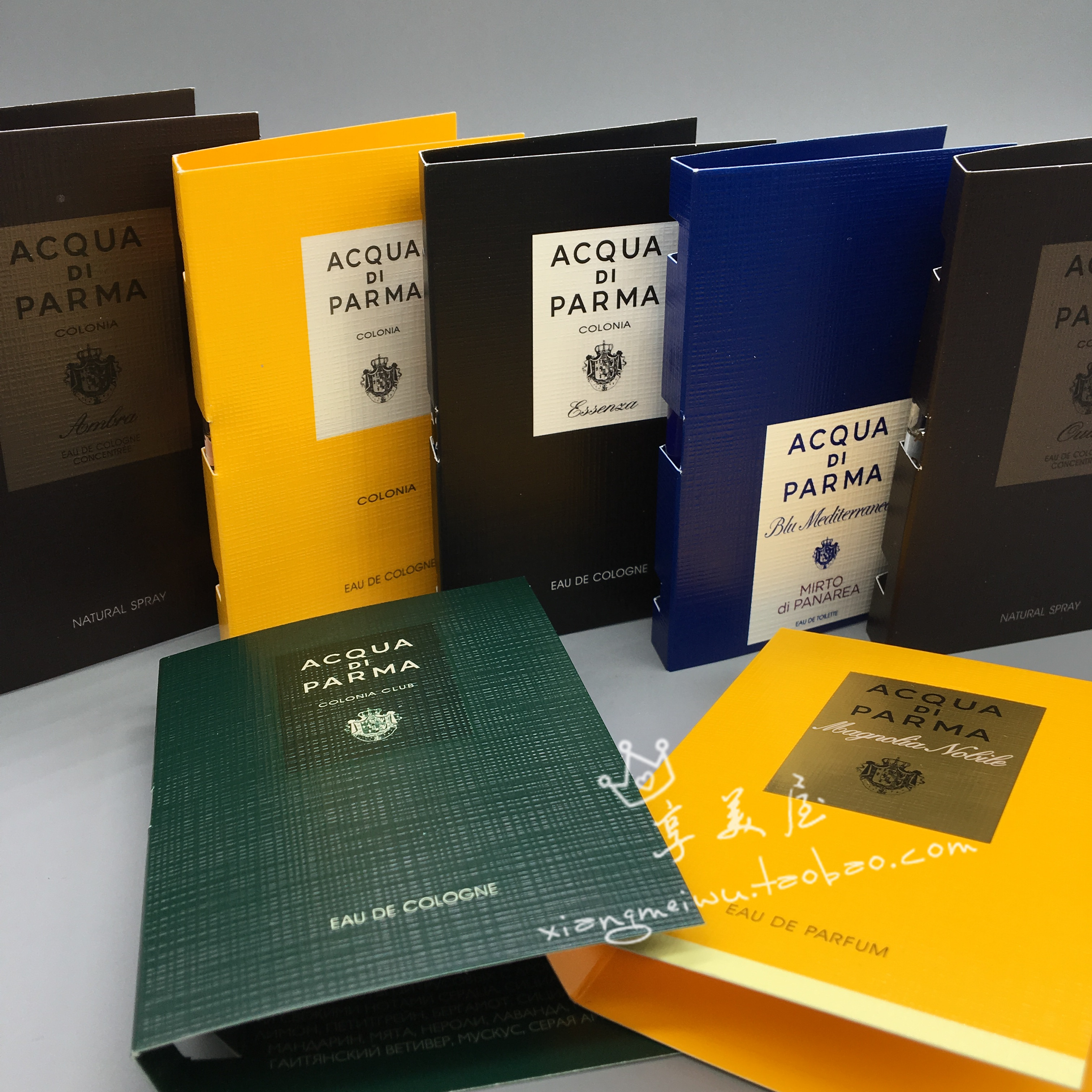 5只包邮 国内专柜 Acqua帕尔马试管香水1.2ml 小样 加州桂 佛手