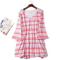 出口欧美单女装胸围116-186cm 胖MM超大码中长T恤女连衣裙L475
