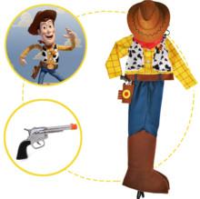 万圣节新款现货玩具总动员胡迪警长西部牛仔服装配帽子围巾分体款