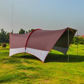 哈比超大天幕帐篷多人户外遮阳棚沙滩天幕冒险者露营帐篷防晒凉棚